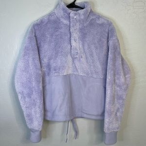 NWOT All In Motion Lavender Sherpa Pullover
